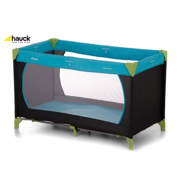 Hauck Dream n Play Travel Cot 120cm x 60cm-Water Blue