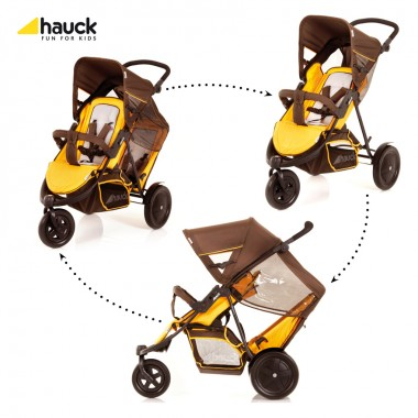 Hauck FreeRider Tandem-BrownYellow