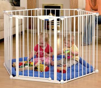 Lindam Safe & Secure Metal Playpen - White