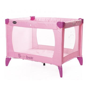 OBaby B is for Bear Travel Cot-Pink CLEARANCE