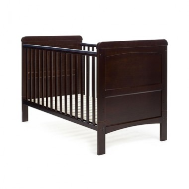 OBaby Catherine Cot Bed-Dark + FREE Underbed Drawer!