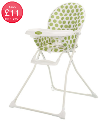 Obaby Munchy Highchair - Dotty Lime