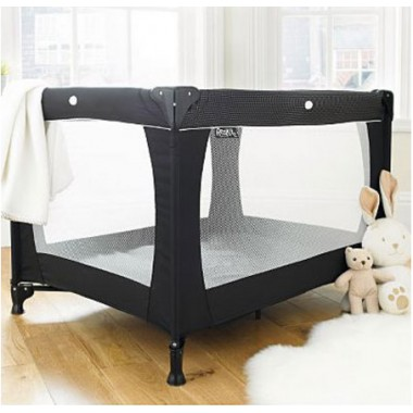 Red Kite Sleep Tight Travel Cot-Jet Black