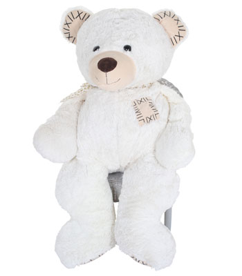 Baby Weavers 100cm Patch Bear White