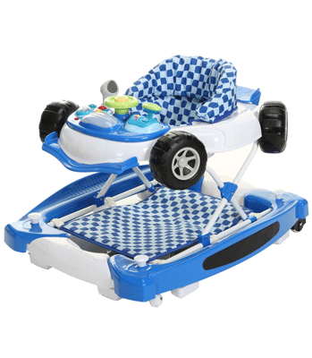 Baby Weavers Car Walk n Rock Baby Walker - Blue