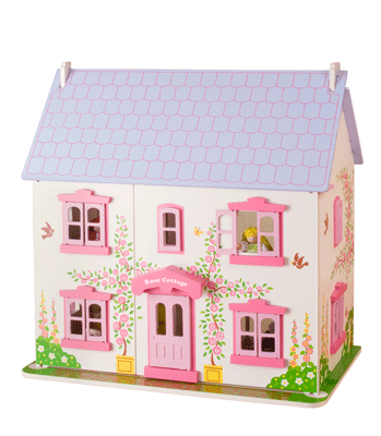 Big Jigs Rose Cottage Wooden Dolls House (Includes 26 Pieces of Furniture)