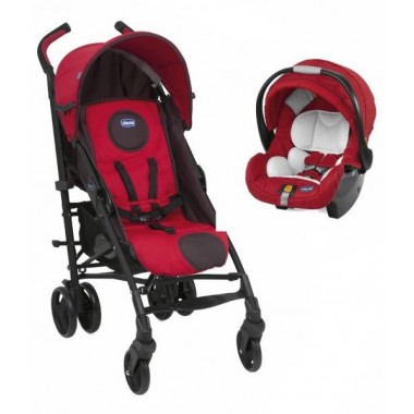 Chicco LiteWay Plus Travel System-Fire (New 2013)