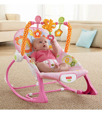 Fisher-Price Infant Toddler Rocker Bunnies