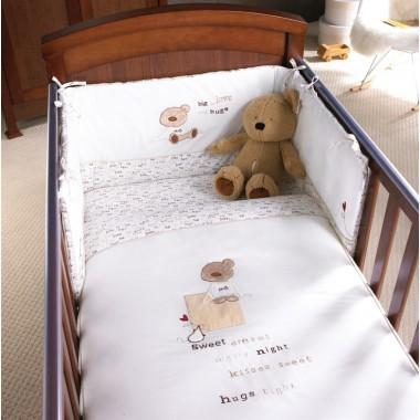 Izziwotnot Vincent CotCot Bed Quilt-White