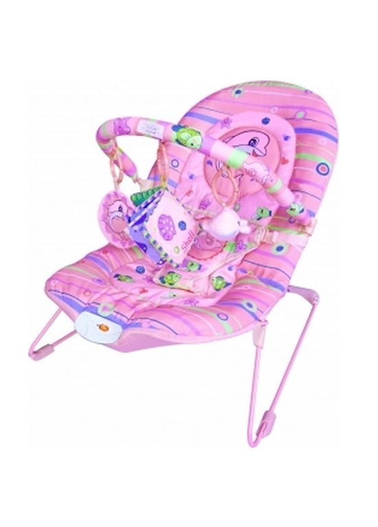 Kiddies Dolphin Vibrating Bouncer-Pink