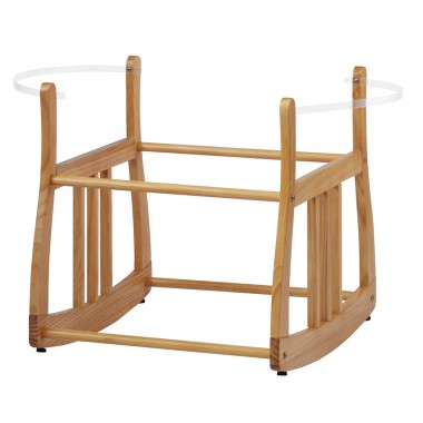 Kub Eco Rocking Moses Basket Stand-Natural