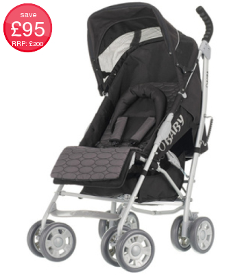 Obaby Aura Deluxe Stroller (inc Grey Accessory Pack)