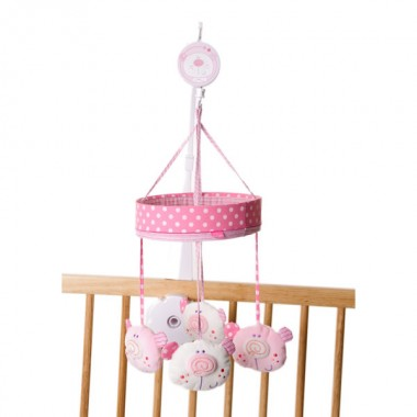 Red Kite Carousel Style Musical Mobile-Pink Bear CLEARANCE
