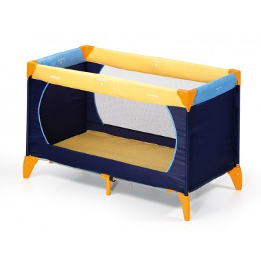 Hauck Dream n Play Travel Cot 120cm x 60cm-YellowLight Blue