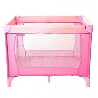 Red Kite Sleep Tight Travel Cot-Pink